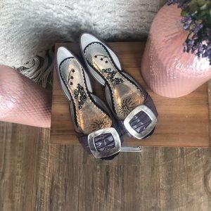 Naughty Monkey Purple Flats, Size 6